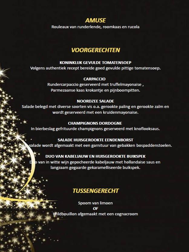 Reserveer nu voor kerst! Via info@willemde4.com of via 0546 452 837.  Willem ser…