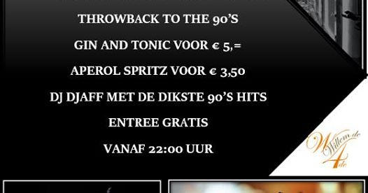 "Willem's Friyay ""Ladies Night"" goes 90's met DJAFF"
